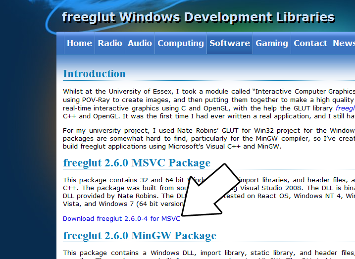 Lazy Foo' Productions - Setting up freeGLUT on Visual Studio 2010