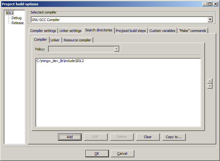 Lazy Foo' Productions - Setting up SDL 2 on Code::Blocks 12 11
