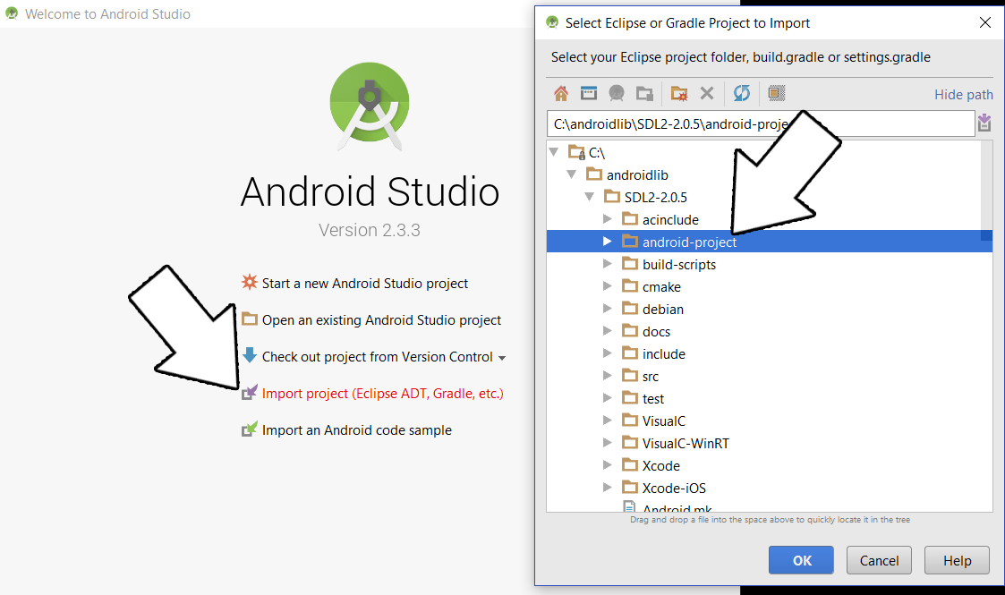 Lazy Foo' Productions - Setting up SDL 2 on Windows Android